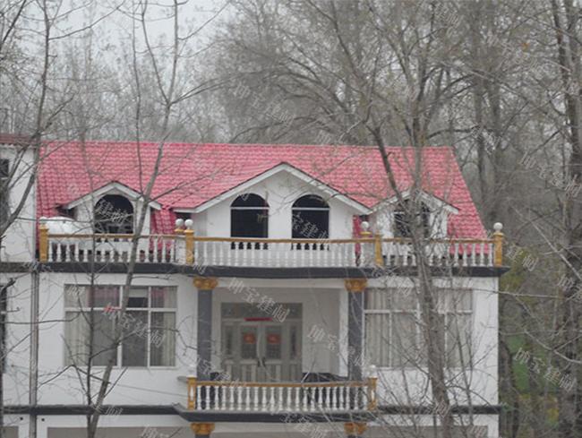 农村自建别墅合成万博官网manbetx电脑版瓦屋面案例