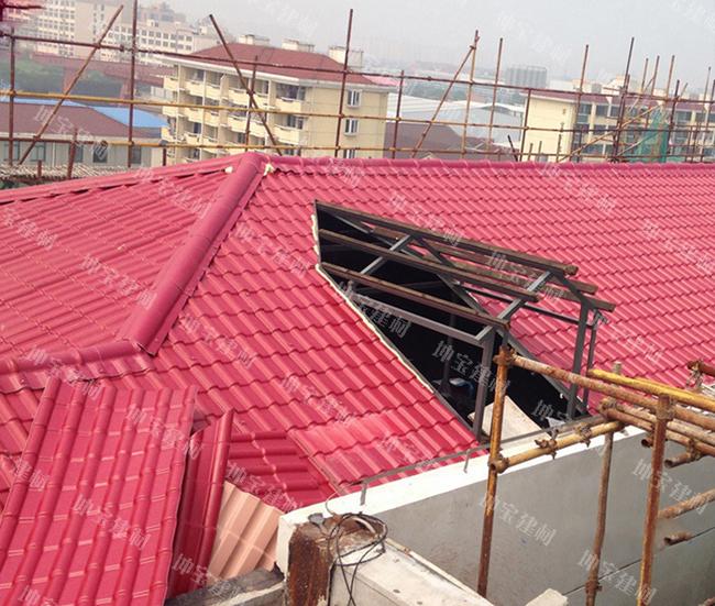 <b>平改坡屋面使用合成树脂瓦案例</b>
