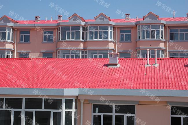 平改坡屋面使用合成万博官网manbetx电脑版瓦案例