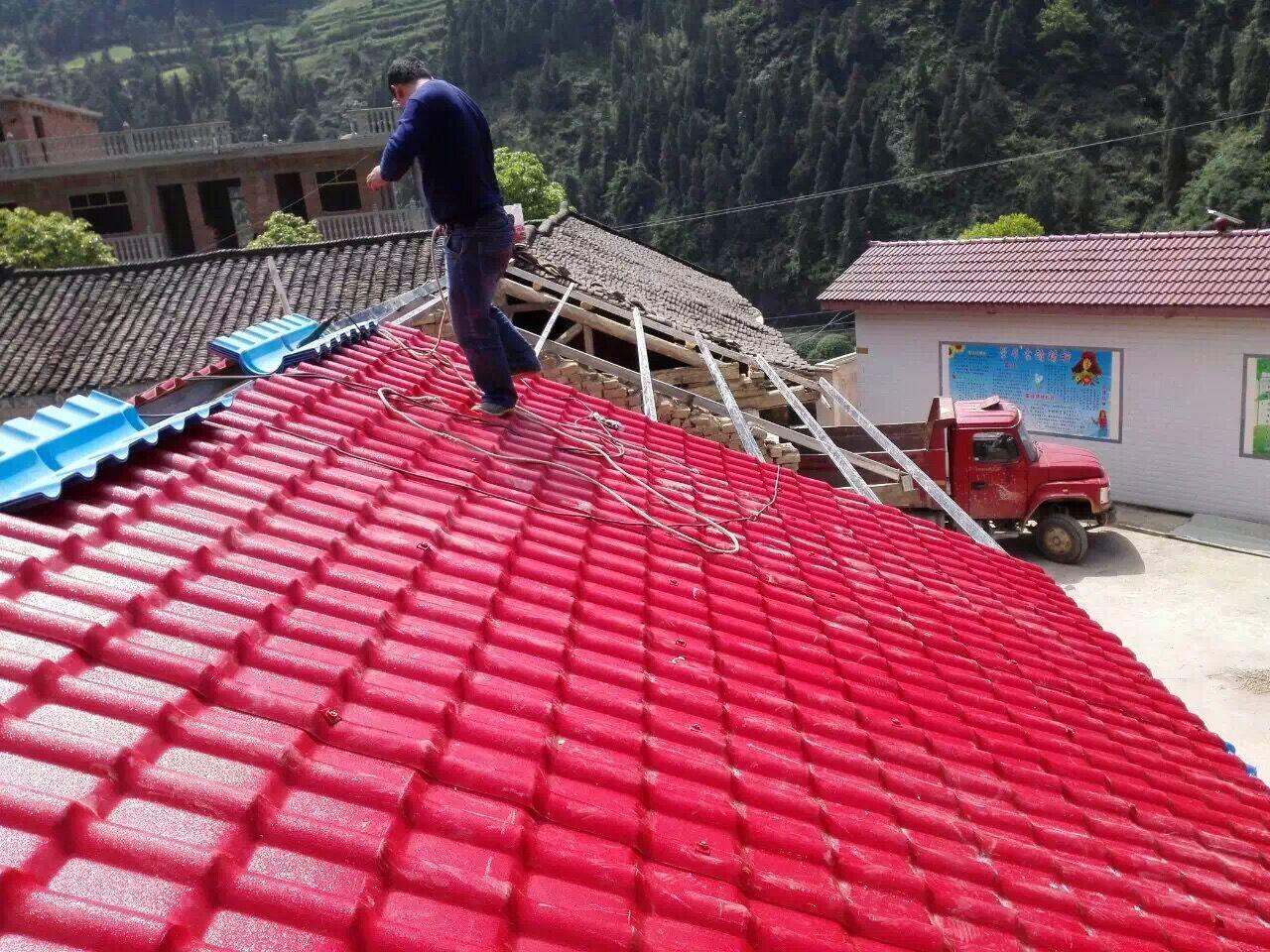 <b>贵州车河小学屋顶换瓦记-坤宝树脂瓦</b>