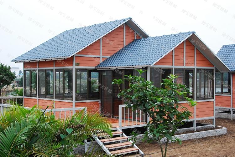 <b>移动别墅屋面瓦/移动木屋使用合成万博官网manbetx电脑版瓦案例</b>