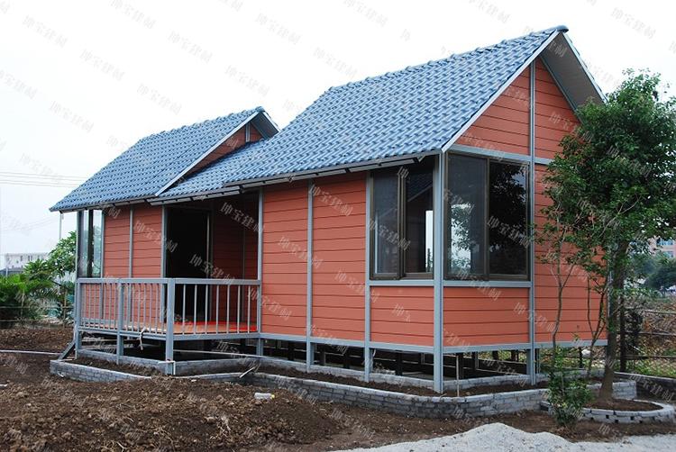 移动别墅屋面瓦/移动木屋使用合成万博官网manbetx电脑版瓦案例