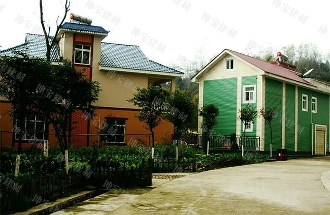 农村住宅瓦房别墅图片