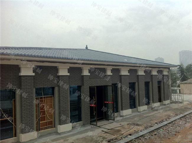 树脂瓦案例:广安市滨江路风貌改造工程