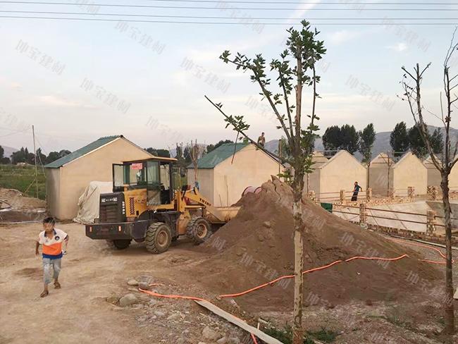 甘肃生态园农庄树脂瓦工程第一期动土开工