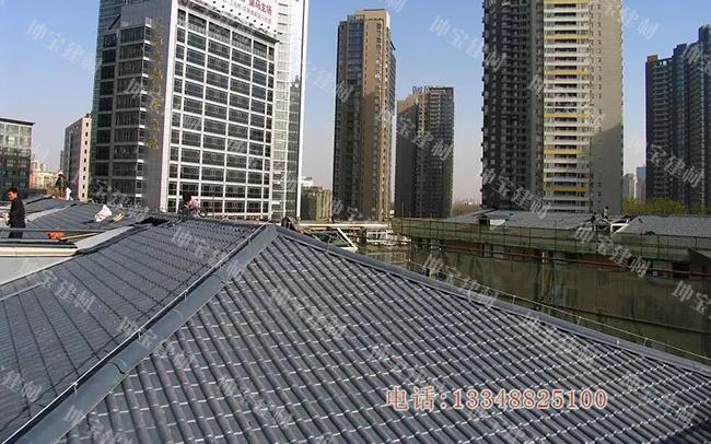 """""""平改坡""""无忧 轻体合成树脂瓦打造高质量屋面改造工程"""