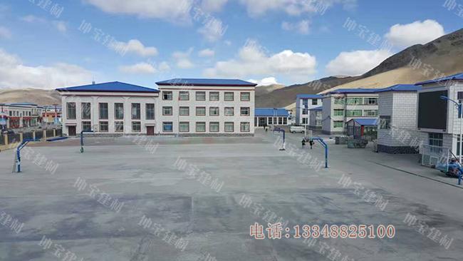 西藏山南错那县中学树脂瓦平改坡工程