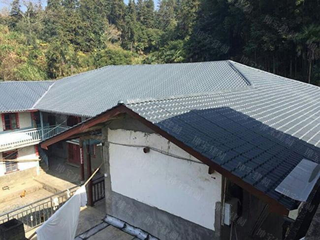 现在,别墅防水基本上屋顶建房坡温泉盖瓦的效果,采用v别墅形式比平顶从化还是山庄农村图片