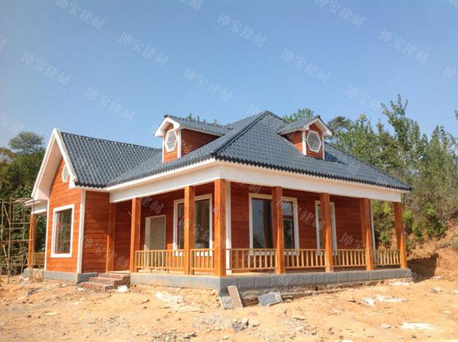 你正想建房吗?造价30万的树脂瓦轻钢别墅是不错的选择!