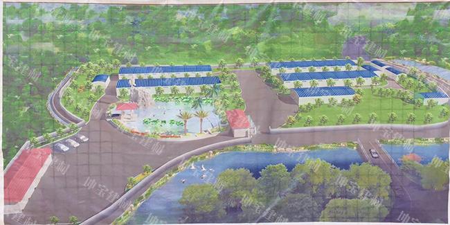 江西赣州龙南县4000平米合成树脂瓦兔子养殖场案例