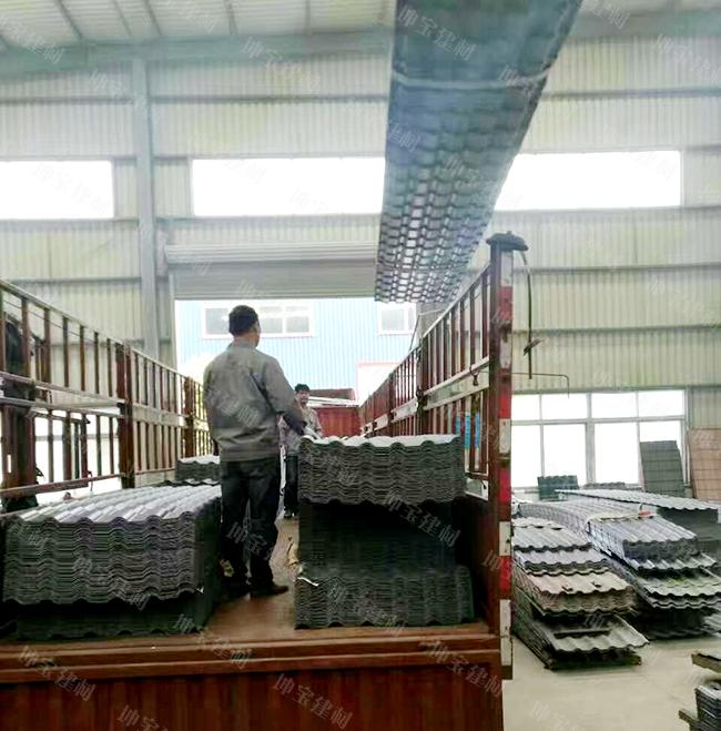湖南32吨灰色树脂瓦已发货完毕