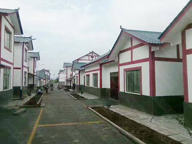 广安3000米树脂瓦的农村集中建房美翻了