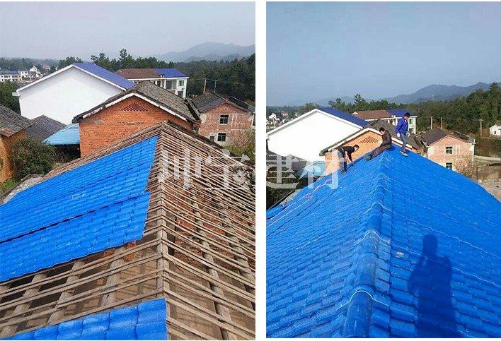 贵州市站街镇新农村改造使用合成树脂瓦