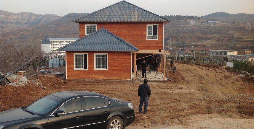 秸秆瓦在钢结构别墅中的应用案例以及问题