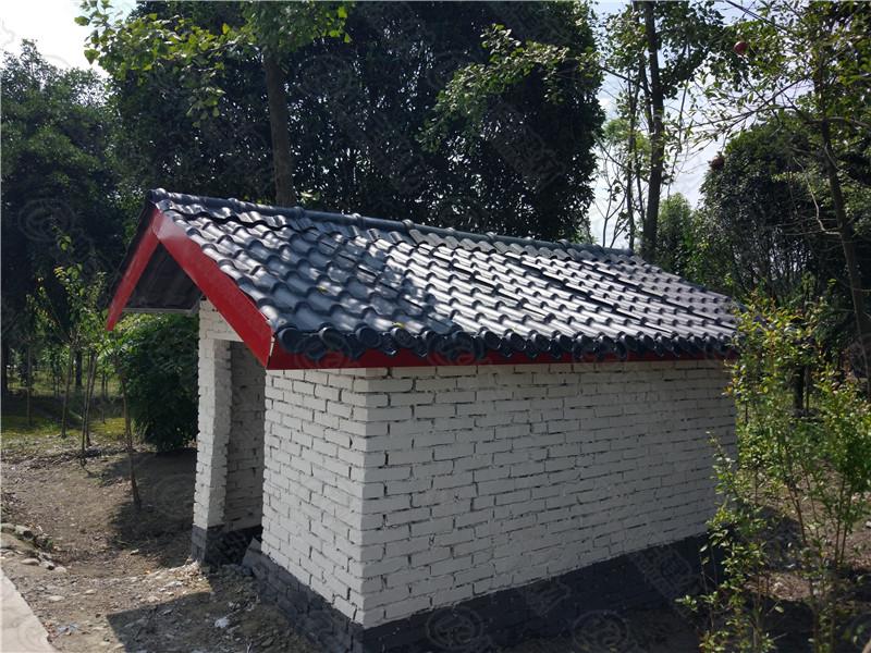 温江区府通路政府旧房改造合成树脂瓦案例