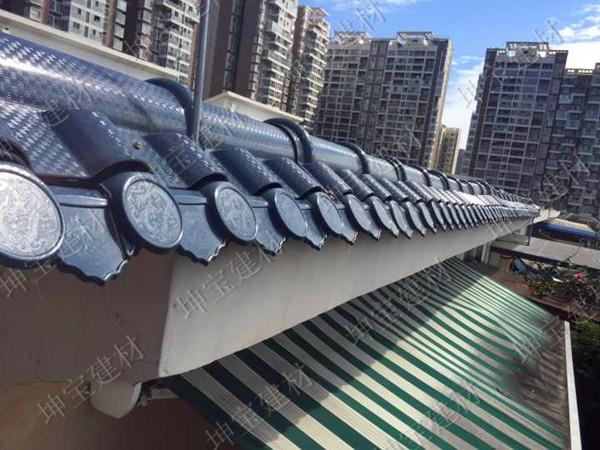 防腐的秸秆纤维瓦为华阳别墅增光添彩!