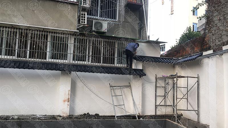 「仿古一体瓦」双流贾老板采购万博官网manbetx电脑版瓦厂家的围墙案例