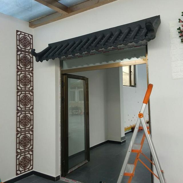 庭院仿古围墙瓦,室内门头装饰一体屋檐瓦,中式仿古一体装饰瓦