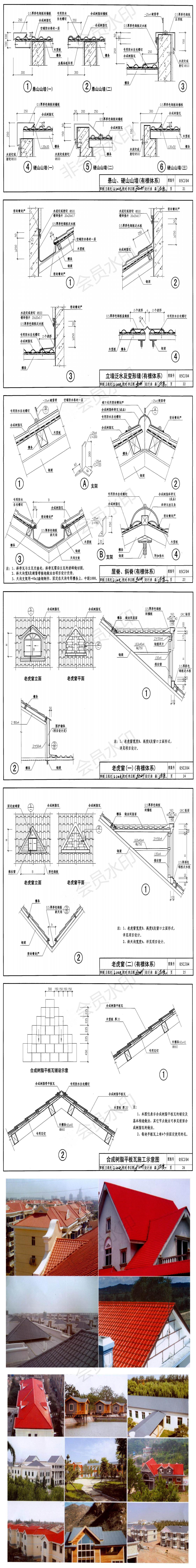 合成万博官网manbetx电脑版瓦《复合塑料》屋面建筑构造安装施工工艺「完整图纸」