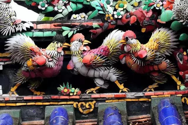 潮州嵌瓷,屋顶生花