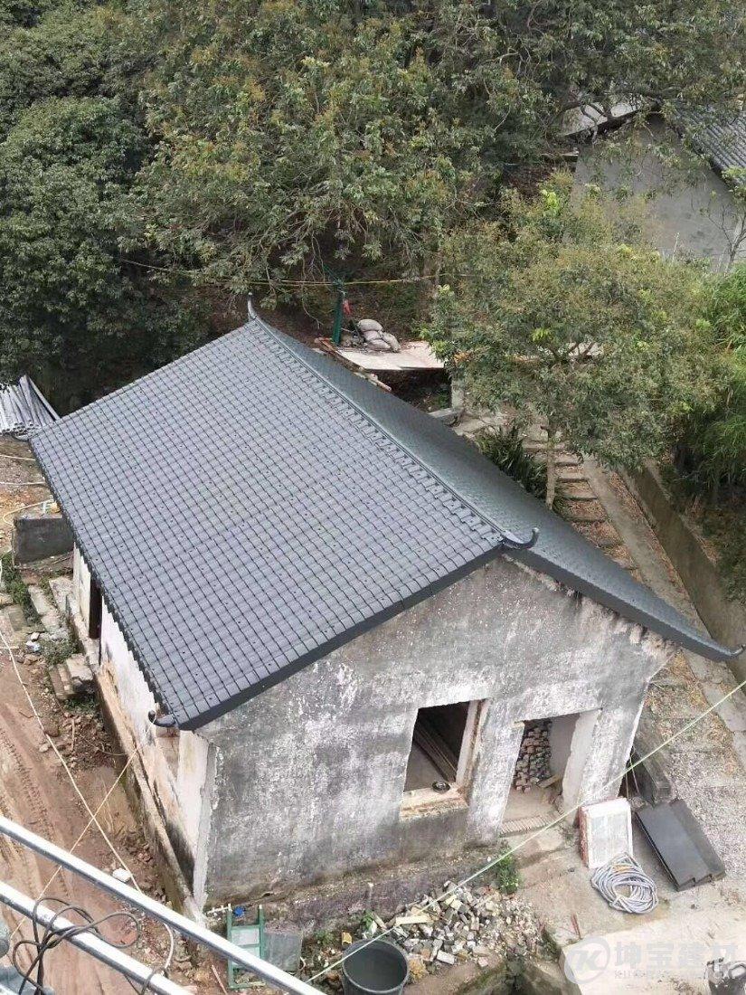 树脂小青瓦2019年越来越受农村老房翻新的欢迎