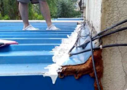 彩钢瓦与外墙面接缝处漏水怎么办-彩钢与墙缝隙怎么封