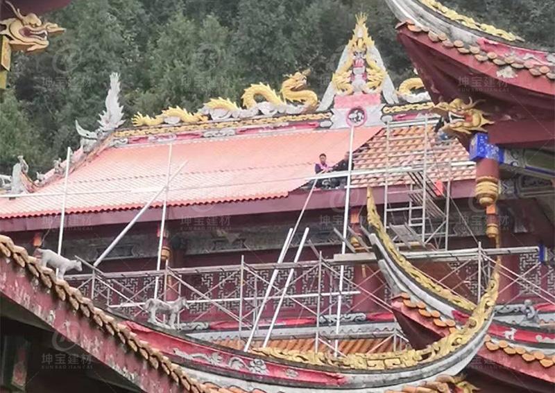 西藏阿坝寺庙合成树脂瓦专用屋面瓦