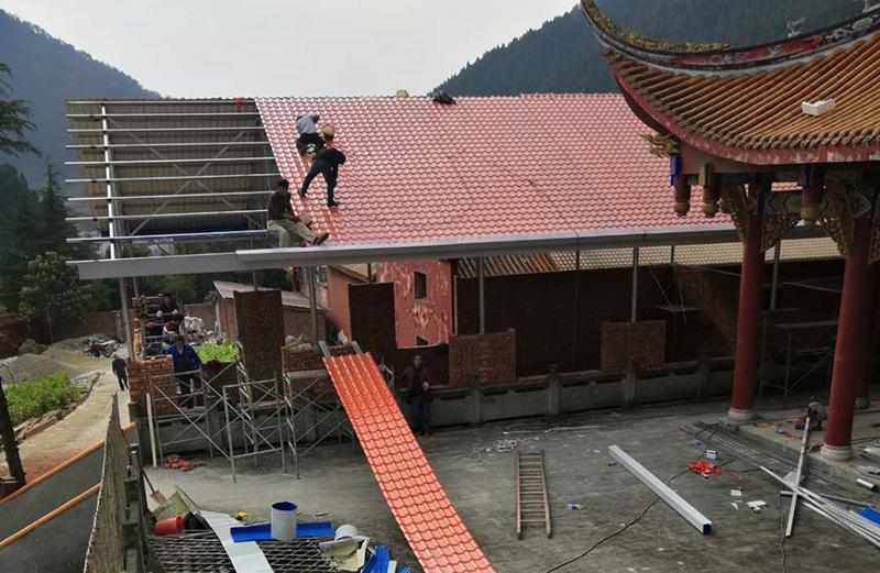 泸州寺庙树脂瓦安装效果图大全
