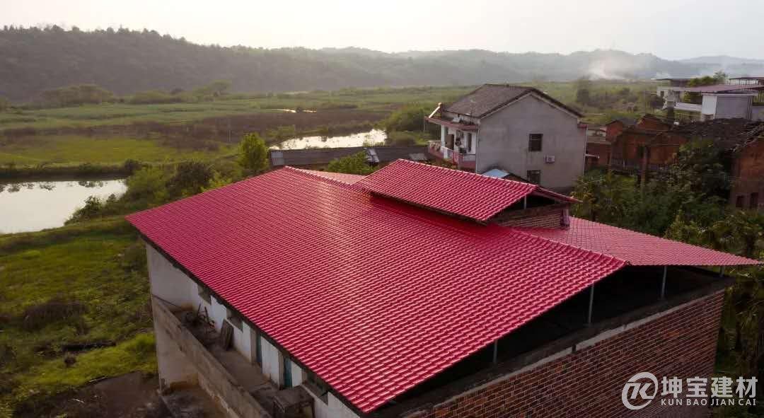 农村最好看的树脂瓦屋顶图