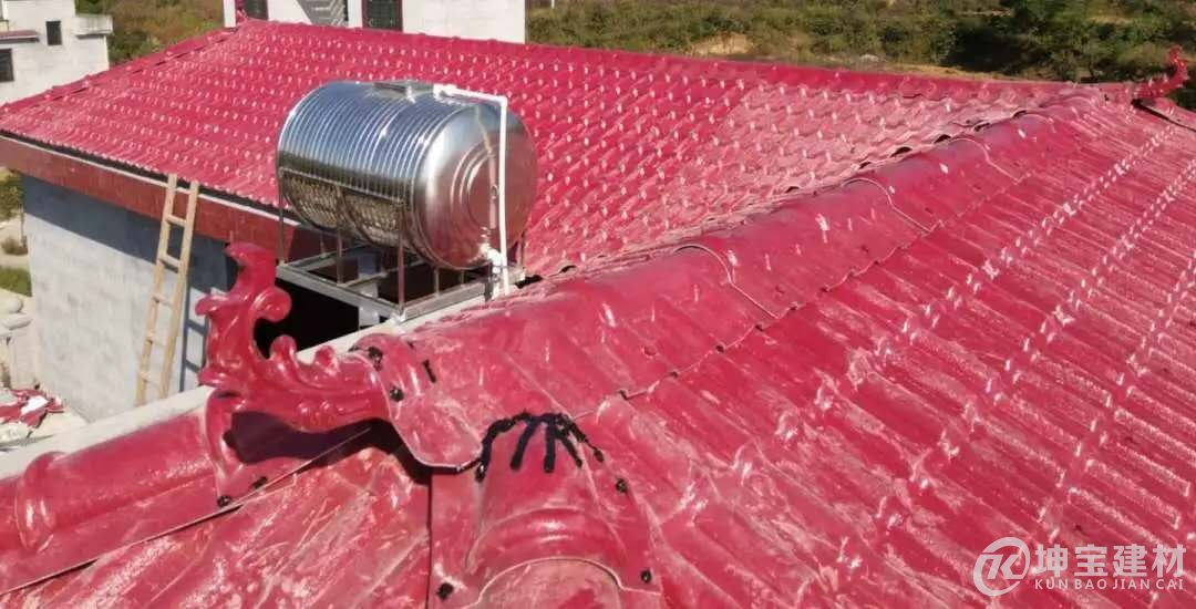 别墅屋顶怎么做四面倒水的树脂瓦屋顶屋面【详细方案】