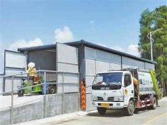 露天垃圾池改造崭新的树脂瓦垃圾房美观又实用